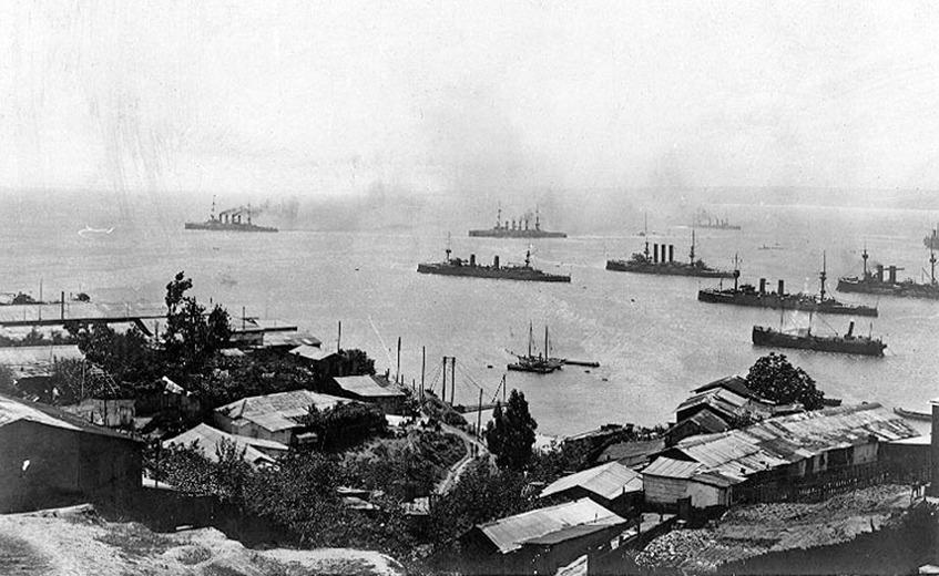 Ostasiengeschwader Graf Spee in Chile 1