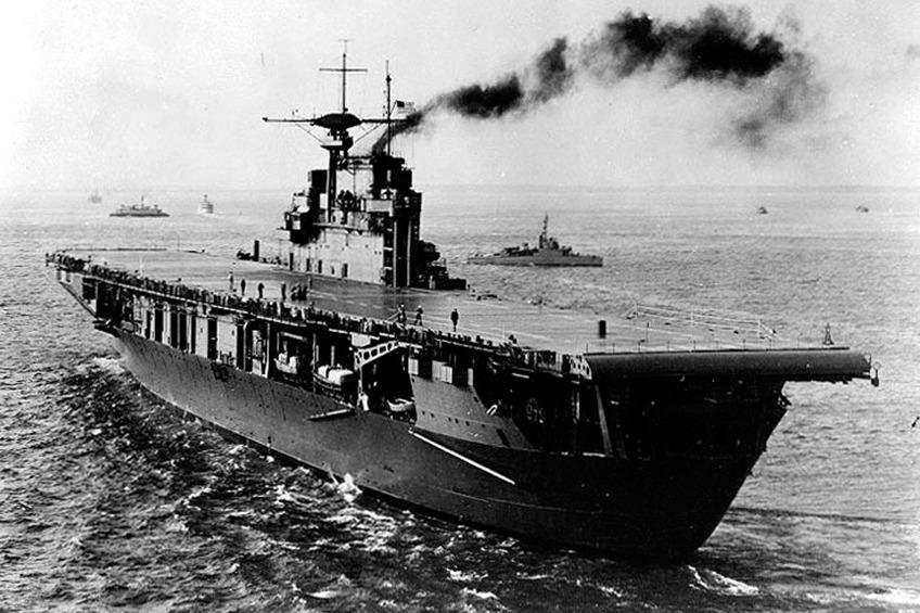 Aft view of USS Hornet 1941